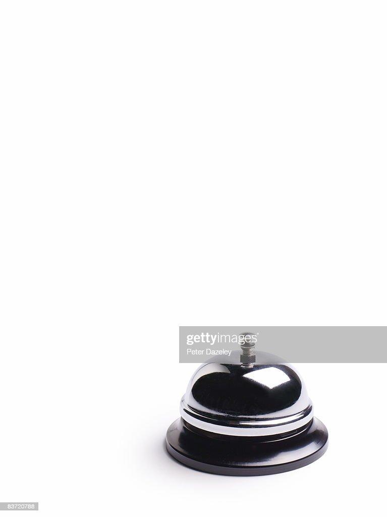 Desk service bell on white background