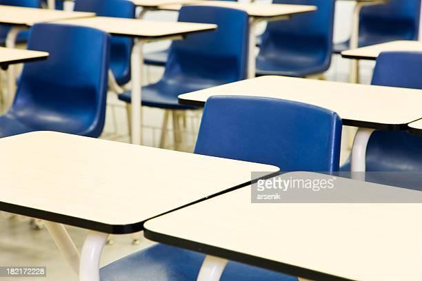 Desks in a classroom