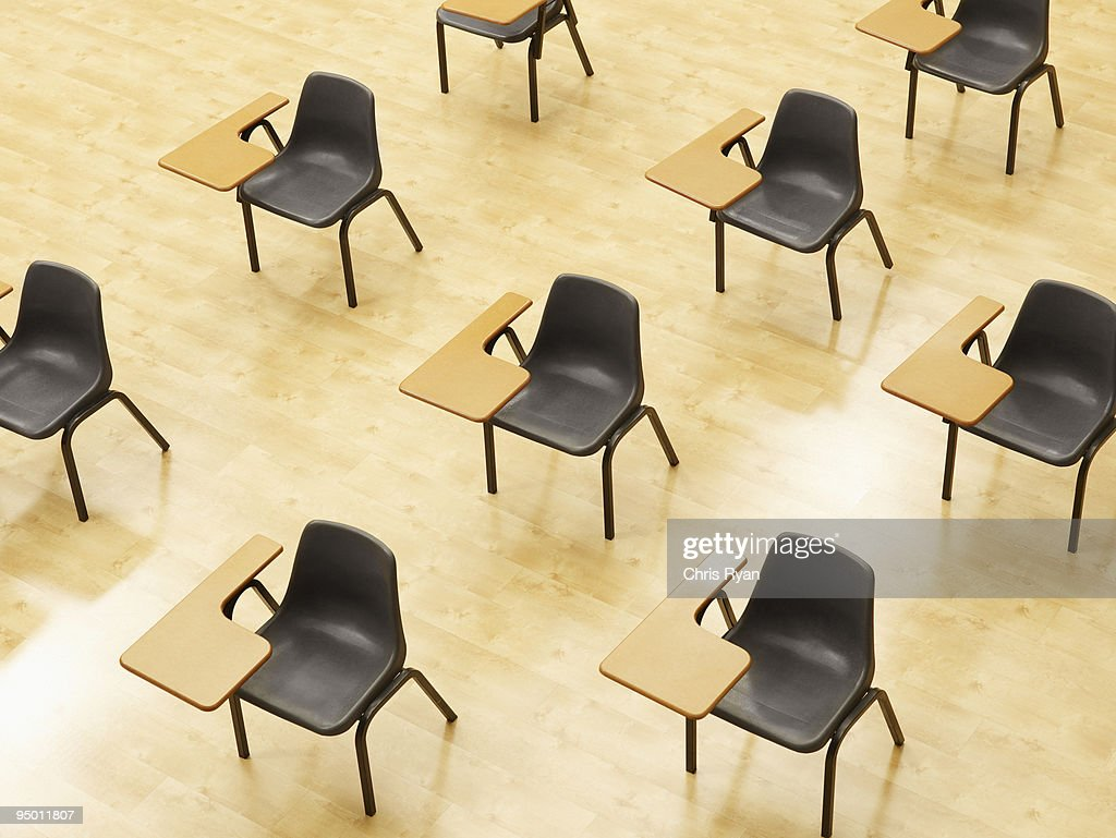 Desks In Empty Classroom Stock Photo | Getty Images