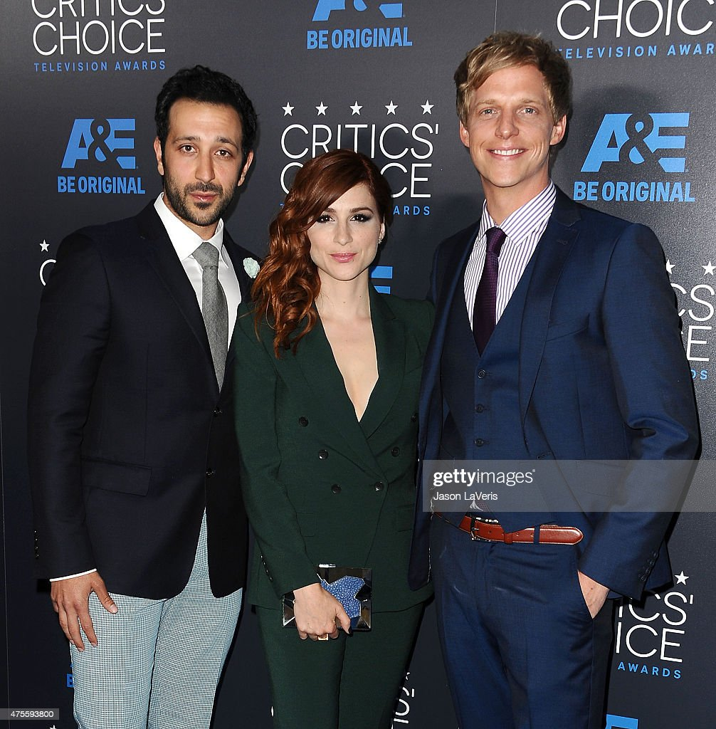 Desmin Borges, Aya Cash and Chris Geere attend the 5th annual Critics' Choice Television Awards at The Beverly Hilton Hotel on May 31, 2015 in Beverly Hills, California.
