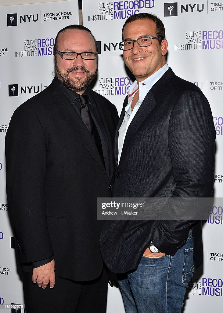 <a gi-track='captionPersonalityLinkClicked' href=/galleries/search?phrase=Desmond+Child&family=editorial&specificpeople=745873 ng-click='$event.stopPropagation()'>Desmond Child</a> and <a gi-track='captionPersonalityLinkClicked' href=/galleries/search?phrase=Doug+Davis&family=editorial&specificpeople=211598 ng-click='$event.stopPropagation()'>Doug Davis</a> attend the Clive Davis Institute Of Recorded Music 10th Anniversary Party at Gallow Green at the McKittrick Hotel on September 26, 2013 in New York City.