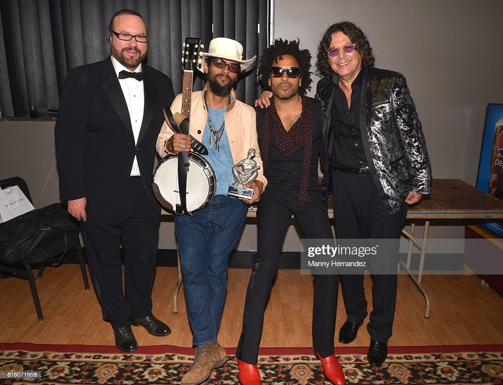Desmond Child, Robi Rosa, Lenny Kravitz and Rudy Perez at Latin Songwriters Hall Of Fame La Musa Awards, Miami Beach, FL on October 13, 2016
