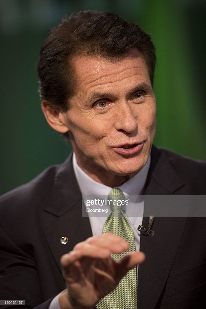Desmond 'Des' Walsh, president of Herbalife Ltd., speaks during a Bloomberg Television interview in New York, U.S., on Thursday, Jan. 10, 2013. Timothy Ramey, an analyst at D.A. Davidson & Co., said that Herbalife Ltd. has a legal corporate structure, rejecting hedge-fund manager Bill Ackman's theory that the direct-selling company operates as a pyramid scheme. Photographer: Scott Eells/Bloomberg via Getty Images