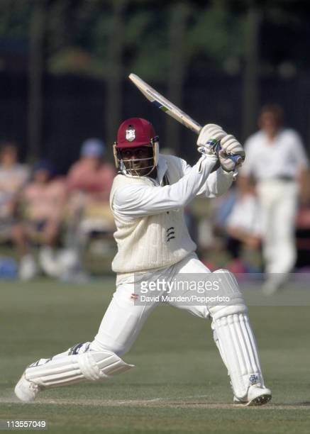 Desmond Haynes batting for Middlesex during the Britannic Assurance County Championship match against Warwickshire played at Coventry on the 17th...