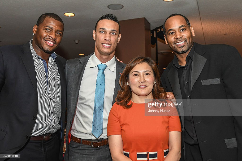 Desmond Mason David Nelson Derek Anderson and Amy Zhou and 2016 Union National Culture And Sports Foundation's Sports For Peace Charity Dinner Gala...