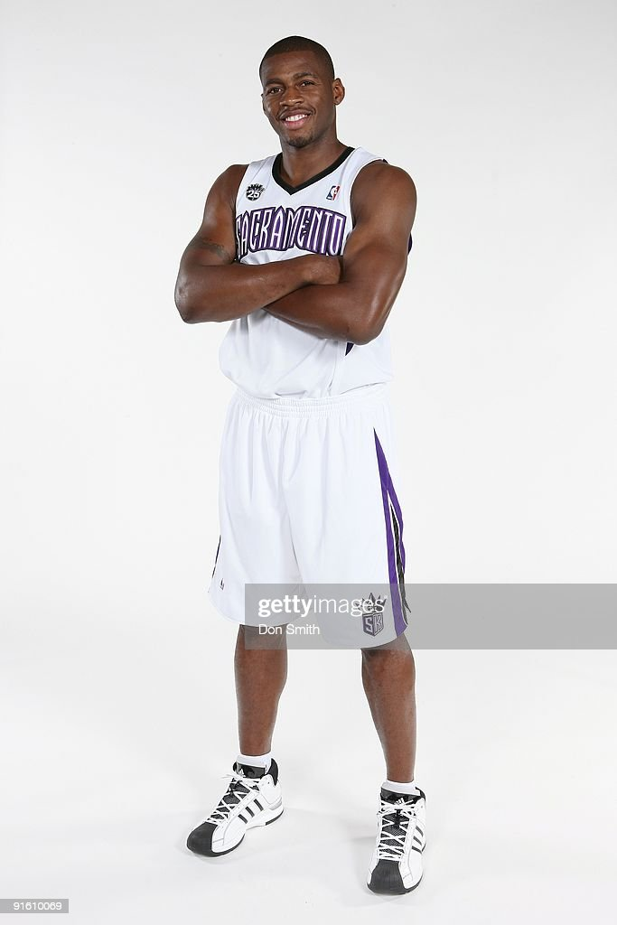 Desmond Mason of the Sacramento Kings poses for a portrait during 2009 NBA Media Day on September 28 2009 at the Kings Practice Facility in...