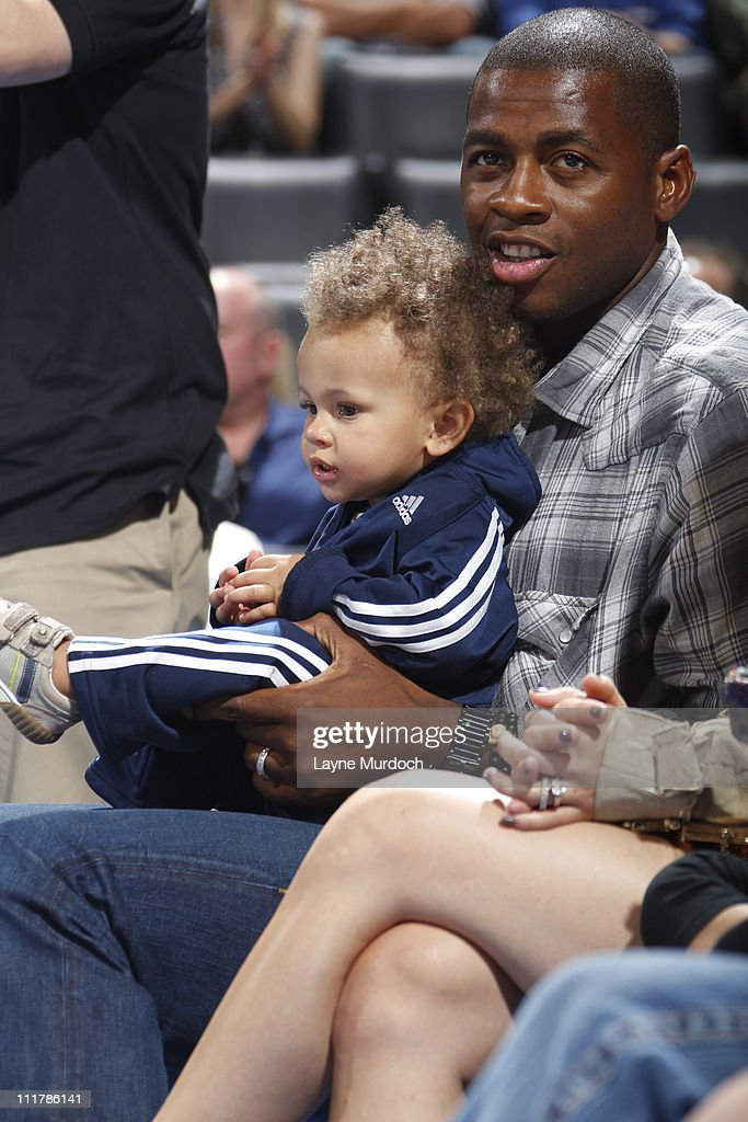 <a gi-track='captionPersonalityLinkClicked' href=/galleries/search?phrase=Desmond+Mason&family=editorial&specificpeople=201810 ng-click='$event.stopPropagation()'>Desmond Mason</a> sits court side during the Los Angeles Clippers v Oklahoma City Thunder game on April 6, 2011 at the Oklahoma City Arena in Oklahoma City, Oklahoma.