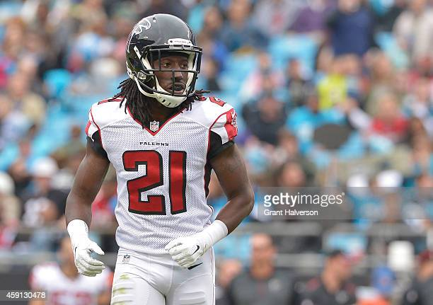 Desmond Trufant of the Atlanta Falcons against the Carolina Panthers during their game at Bank of America Stadium on November 16 2014 in Charlotte...