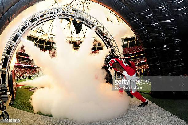 Desmond Trufant of the Atlanta Falcons runs out on the field prior to the game against the Minnesota Vikings at the Georgia Dome on November 29 2015...