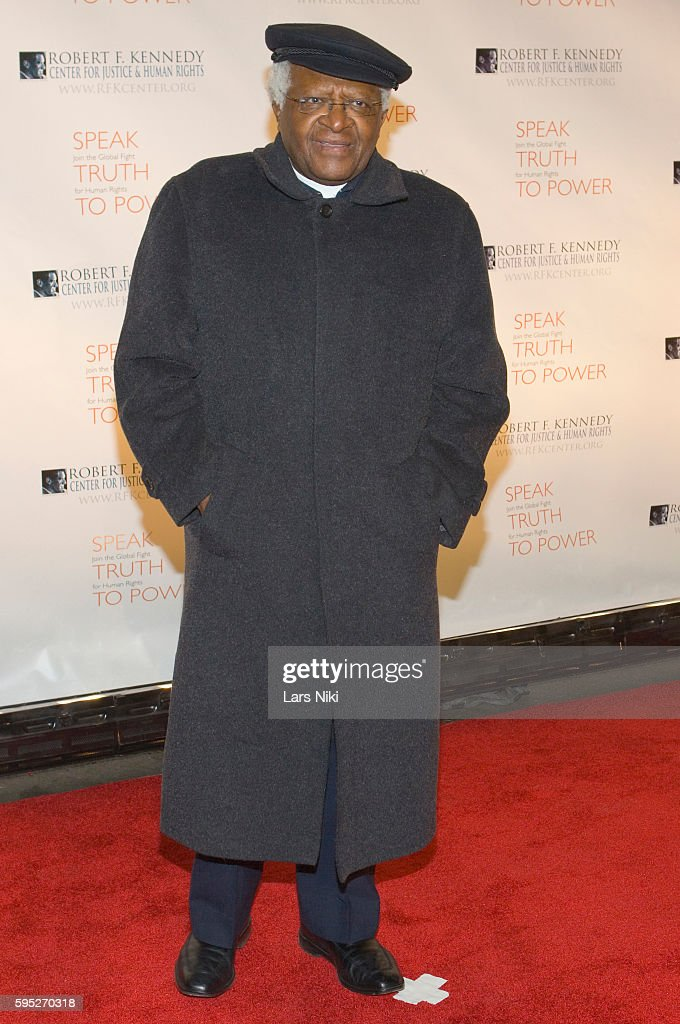 Desmond Tutu attends the 'Robert F Kennedy Center For Justice Human Rights Bridge Dedication Gala' at Pier 60 in New York City