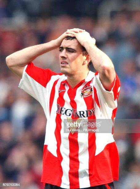Despair for Sunderland's Gavin McCann after losing against Birmingham City a loss which condemned them to relegation after the Barclaycard...