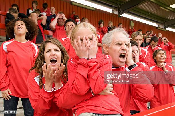 Despairing Fans at football match