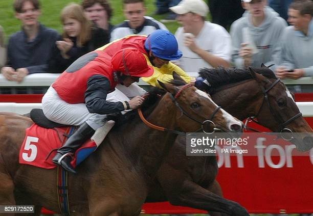 Desperate finish to the Convergent Telecom Middleton Stakes at York Races with George Duffield on Jalousie just beating Champion Jockey Kieren Fallon...