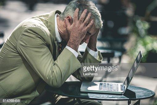 Desperate senior business man