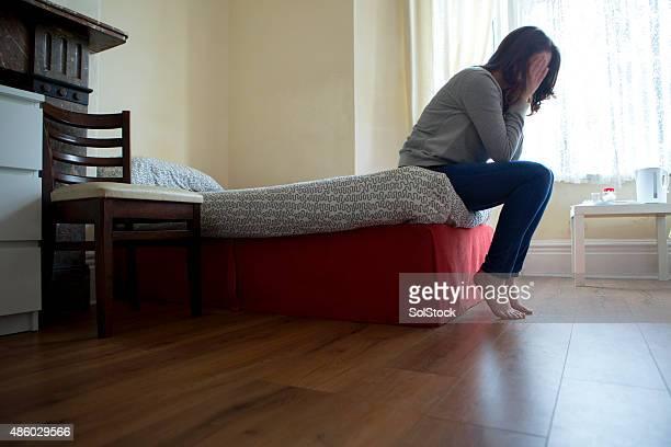 Desesperado mujer