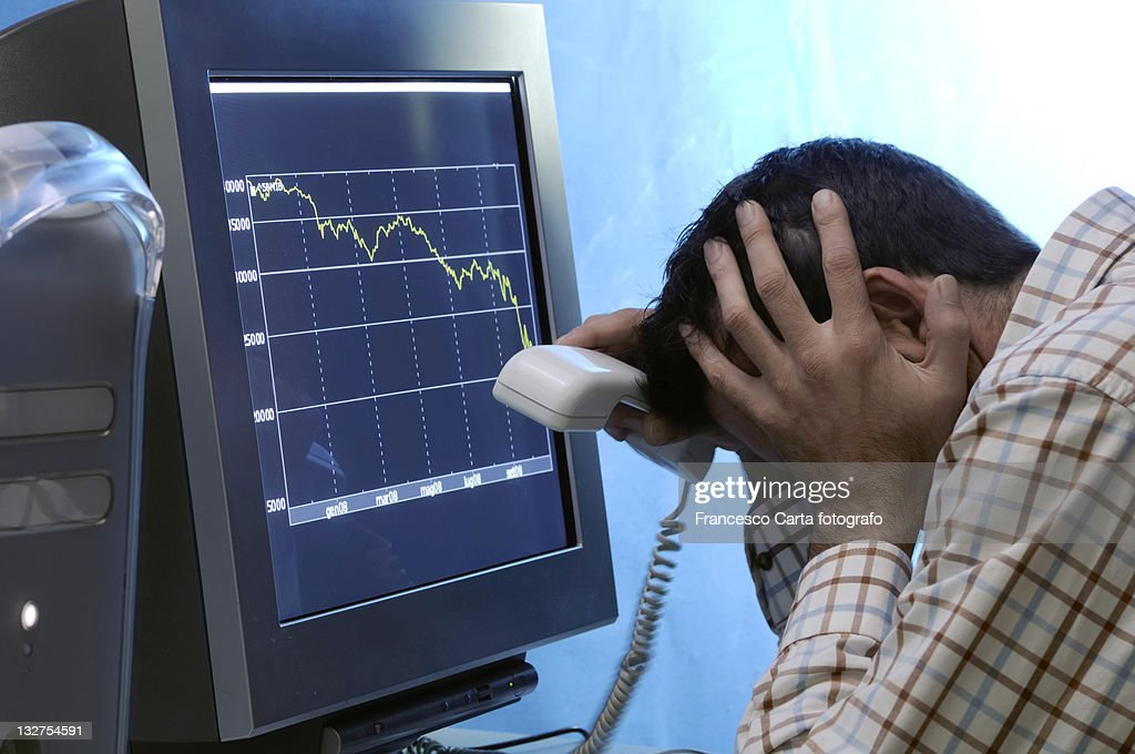 Desperately  stock traders : Stock Photo