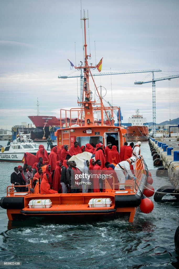 Migrants rescued in the Mediterranean Sea