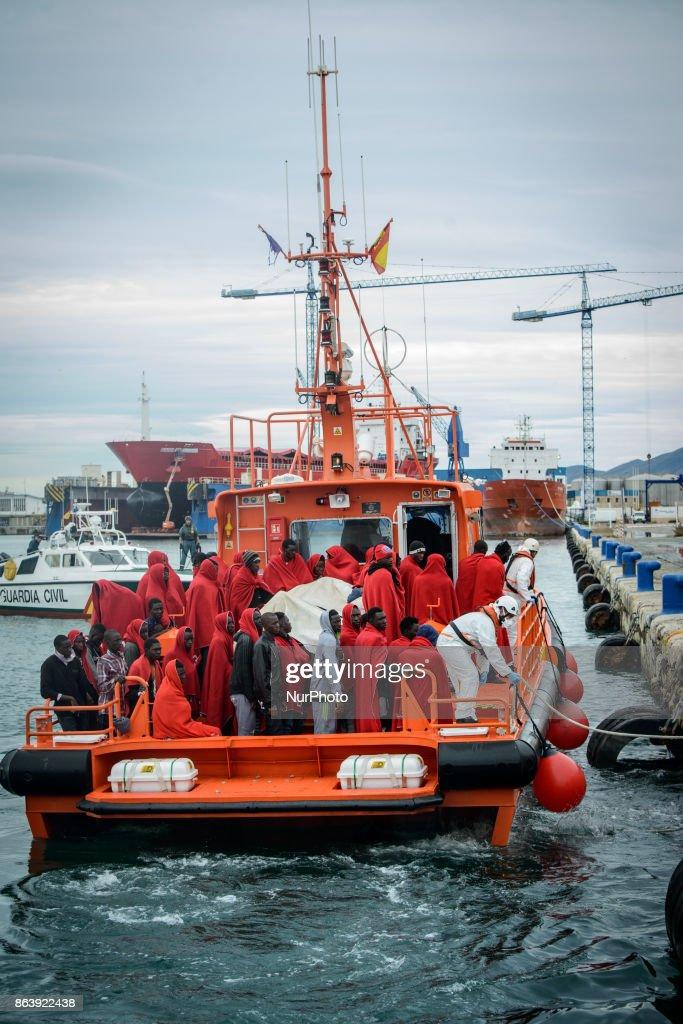 Migrants rescued in the Mediterranean Sea