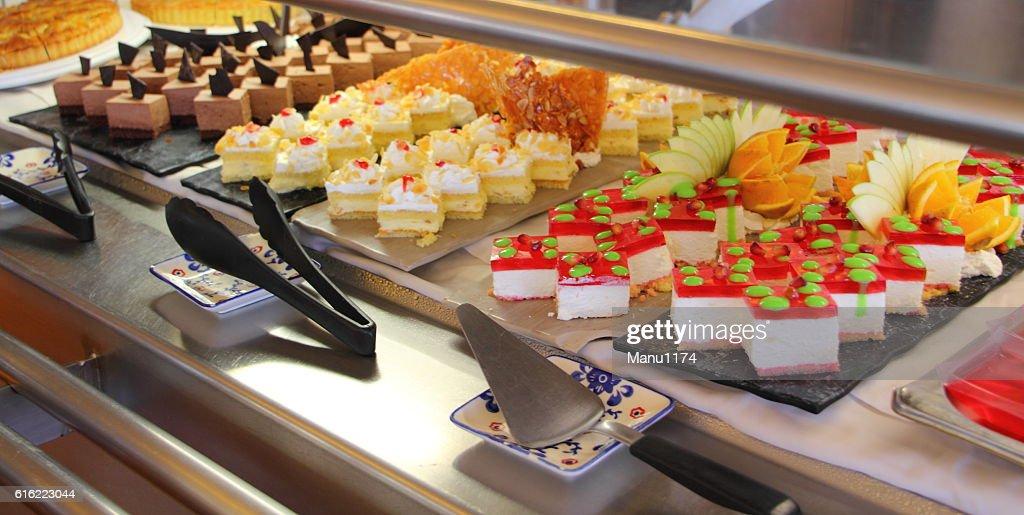 dessert buffet on a cruise ship : Stock Photo