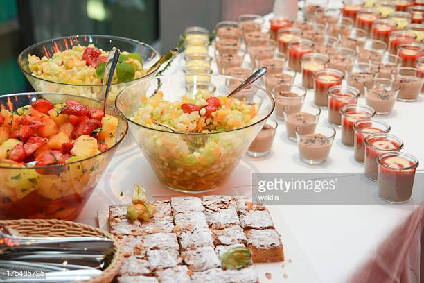 dessert pudding sweet on catering buffet