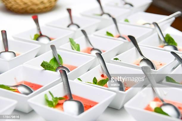 dessert sucré avec service traiteur