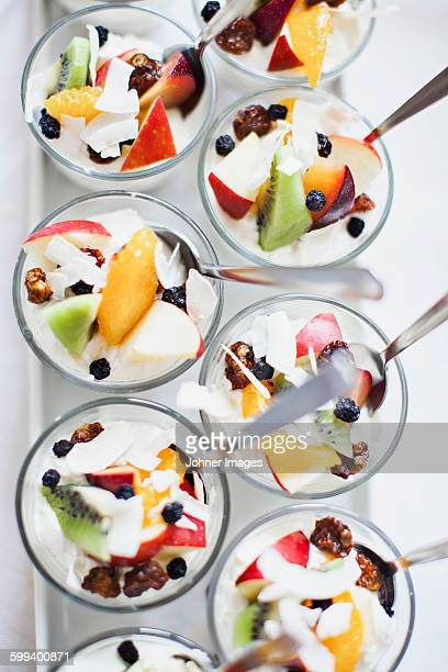 Desserts with fruits