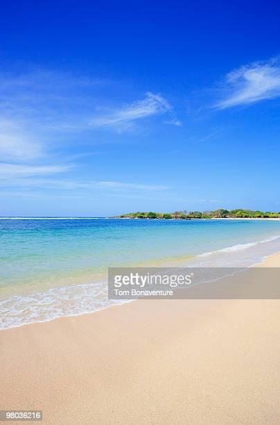 A desterted beach at Nusa Dua