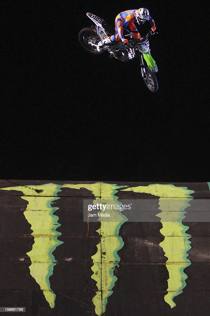 Destin Cantrell of United States in action during the Xpilots - World Freestyle Motocross at Foro Sol on November 17, 2012 in Mexico City, Mexico