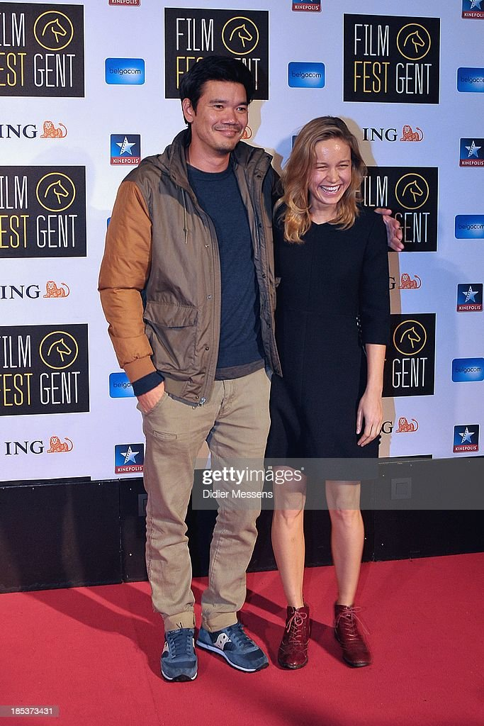 Destin Daniel Cretton and <a gi-track='captionPersonalityLinkClicked' href=/galleries/search?phrase=Brie+Larson&family=editorial&specificpeople=171226 ng-click='$event.stopPropagation()'>Brie Larson</a> attends the Belgian premiere of Don Jon at the 40th Ghent Film Festival on October 17, 2013 in Gent, Belgium.
