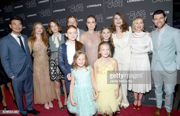 LR Destin Daniel Sarah Snook Brigette LundyPaine Sadie Sink Brie Larson Olivia Kate Rice Naomi Watts and Max Greenfield attend 'The Glass Castle' New...
