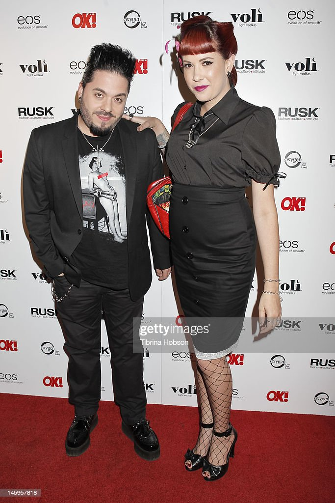 Destin Pfaff and Rachel Federoff attend the OK! Magazine's sexy singles party at The Roxbury on June 7, 2012 in Hollywood, California.