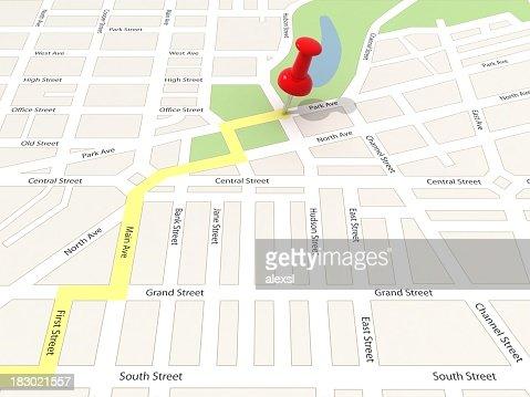 Destination Point on Map
