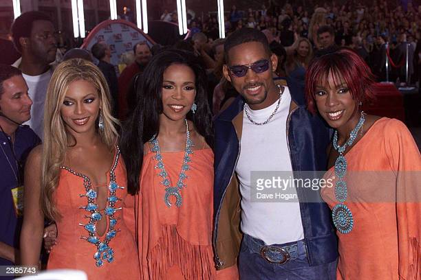 Destiny's Child and Will Smith arriving at the 2001 MTV Video Music Awards held at the Metropolitan Opera House at Lincoln Center in New York City on...