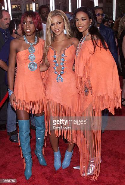 Destiny's Child arriving at the 2001 MTV Video Music Awards at the Metropolitan Opera House at Lincoln Center in New York City on September 6 2001...