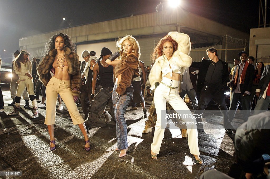 Destiny's Child during Destiny's Child Video Shoot for Lose My Breath in Los Angeles, California, United States.