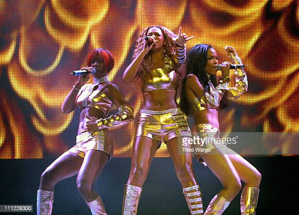 Destiny's Child during Opening of MTV's 'TRL' Tour at Pepsi Arena July 18 2001 at Pepsi Arena in Albany New York United States