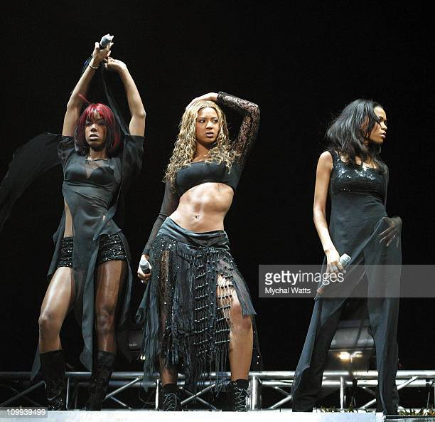 Destiny's Child during Z100's Jingle Ball 2002 Show at Madison Square Garden in New York City New York United States