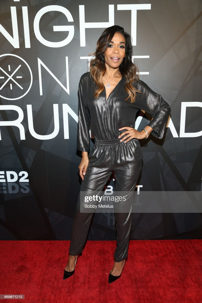 Destiny's Child Michelle Williams attends A Night on the Runwade Event at Revel Fulton Market on March 19th, 2017 in Chicago, Illinois.