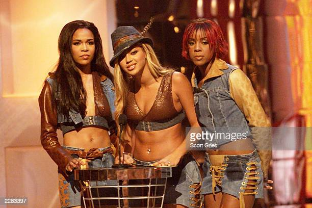 Destiny's Child onstage at the 2001 MTV Video Music Awards held at the Metropolitan Opera House at Lincoln Center in New York City on September 6...