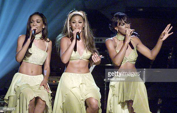 Destiny's Child performs live at 'Women Rock Girls Guitars' at the Wiltern Theater Los Angeles Ca 10/12/00 The concert was held to raise awareness...