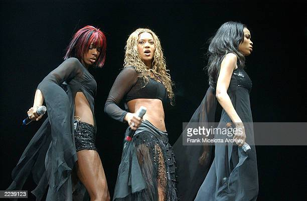 Destiny's Child performs on the 2002 Z100 Jingle Ball at Madison Square garden in New York City December 12 2002 Photo by Frank Micelotta/ImageDirect