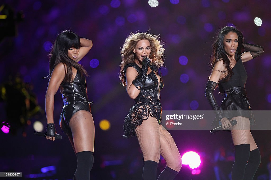 Destiny's Child Reunites to perform when Beyonce performs during the Pepsi Super Bowl XLVII Halftime Show at Mercedes-Benz Superdome on February 3, 2013 in New Orleans, Louisiana.