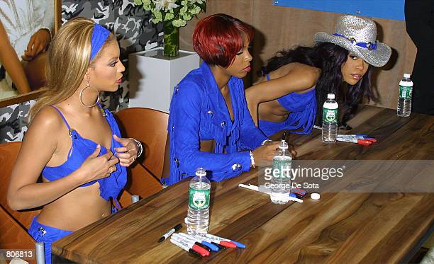 Destiny's Child signs copies of their new album 'Survivor' May 1 2001 at Coconuts Music store in New York City
