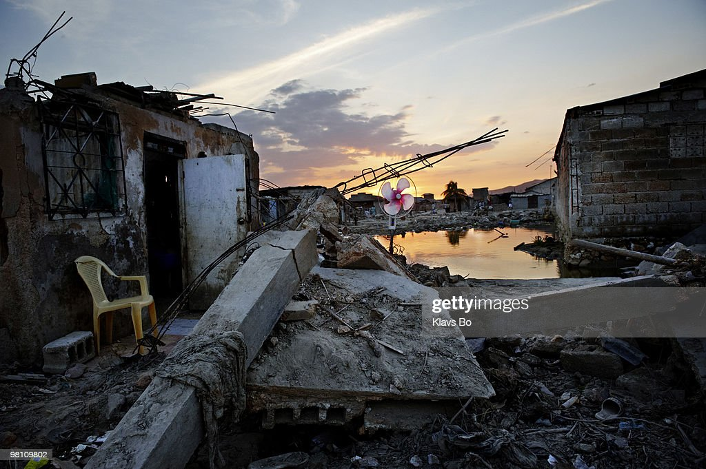 A destroyed area of town six weeks after the hurricane Ike hit the island. During the first eight months of 2008 Haiti got hit by two tropical storms and two hurricanes leaving more than a million people homeless.