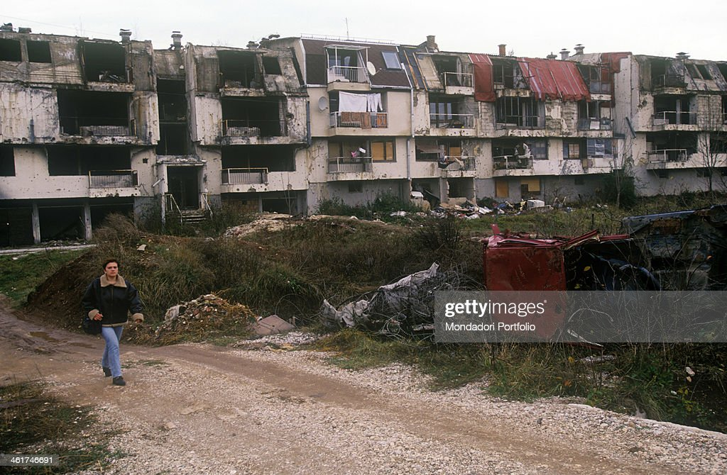 Destroyed buildings in the airport district of Sarajevo The city was the scene of the war in Bosnia and Herzegovina and under siege for four years...
