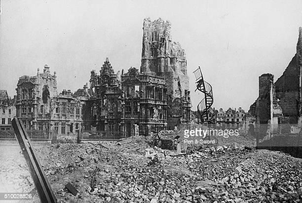 Destroyed buildings of Arras France