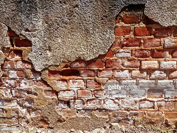 Destroyed Concrete and Brick wall
