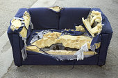 Destroyed couch