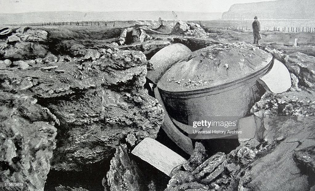 Destroyed fortifications at Liege in world war one