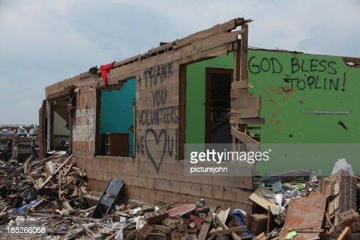 Zerstörter Hause in Joplin nach dem Tornado